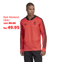 Adidas Real Madrid Euro training top rood (DP7658)